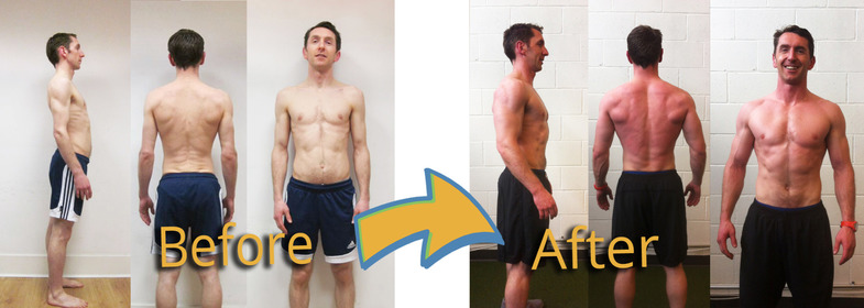 Strength and conditioning training - Before and after images of Leo Ryan